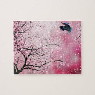 Cherry Blossom trees & Hummingbird Puzzle