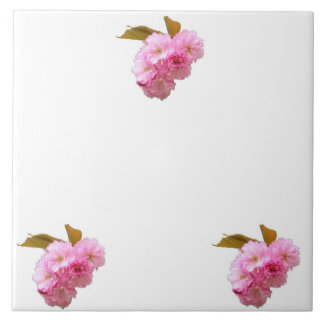 Cherry Blossom Trivet Large Square Tile