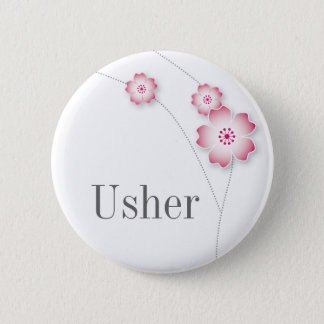 Cherry Blossom Usher Button