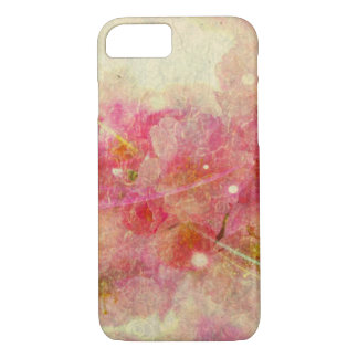 cherry blossom vintage romance abstract-off white iPhone 7 case