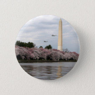 Cherry Blossom Washington DC 6 Cm Round Badge