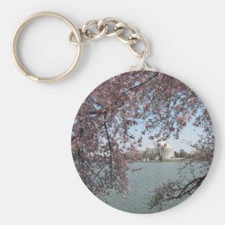 Cherry Blossom Washington DC Basic Round Button Key Ring