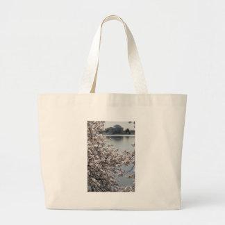Cherry Blossom Washington DC Canvas Bags