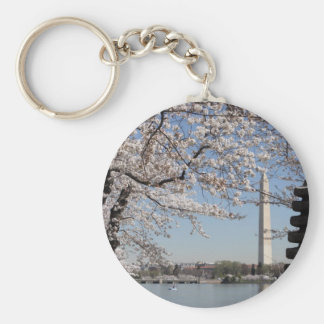 Cherry Blossom Washington DC Key Ring