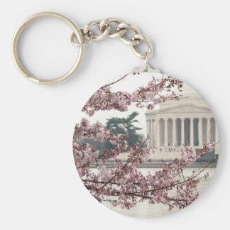 Cherry Blossom Washington DC Keychain