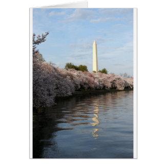 Cherry Blossom Washington monument Card