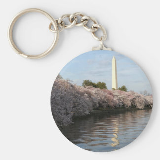 Cherry Blossom Washington monument Key Ring