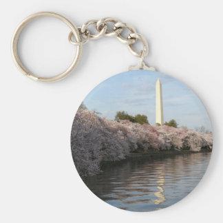 Cherry Blossom Washington monument Keychains