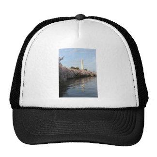 Cherry Blossom Washington monument Mesh Hats