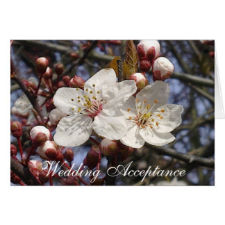 Cherry Blossom Wedding Acceptance Card
