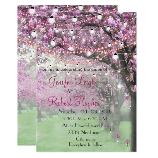 Cherry blossom wedding card