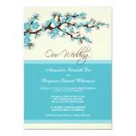 Cherry Blossom Wedding Invitation (aqua) 13 Cm X 18 Cm Invitation Card