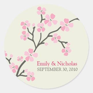 Cherry Blossom Wedding Invitation Seal 2 (pink)