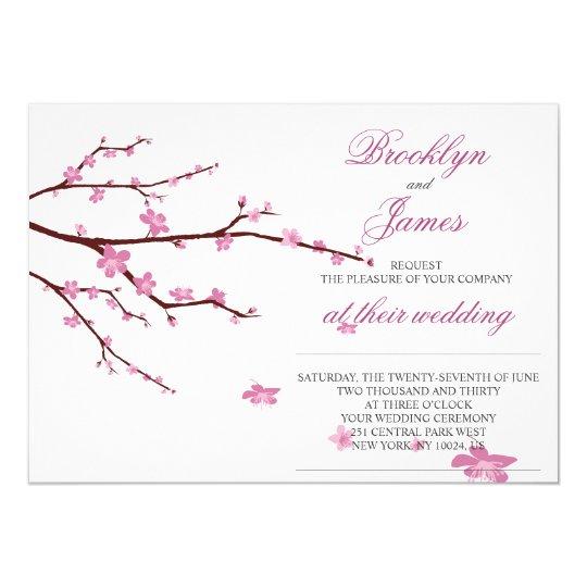 Cherry Blossom Wedding Invites