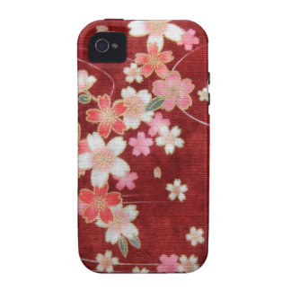 CHERRY BLOSSOM WISP - KIMONO PRINT COLLECTION Case-Mate iPhone 4 CASES
