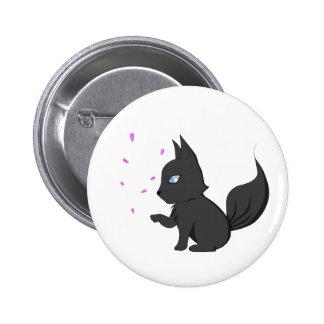 Cherry Blossom Wolf button