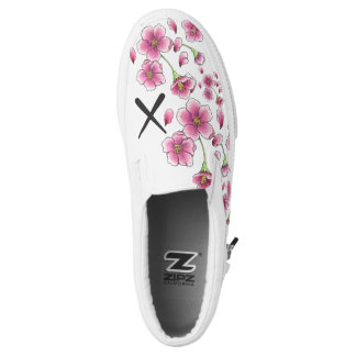 Cherry Blossom X slip on shoes Printed Shoes