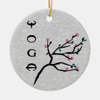 Cherry Blossom - Yoga Decor Christmas Ornament