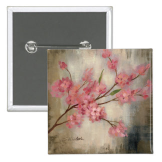 Cherry Blossoms 15 Cm Square Badge