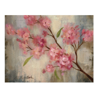 Cherry Blossoms and Branch Postcard
