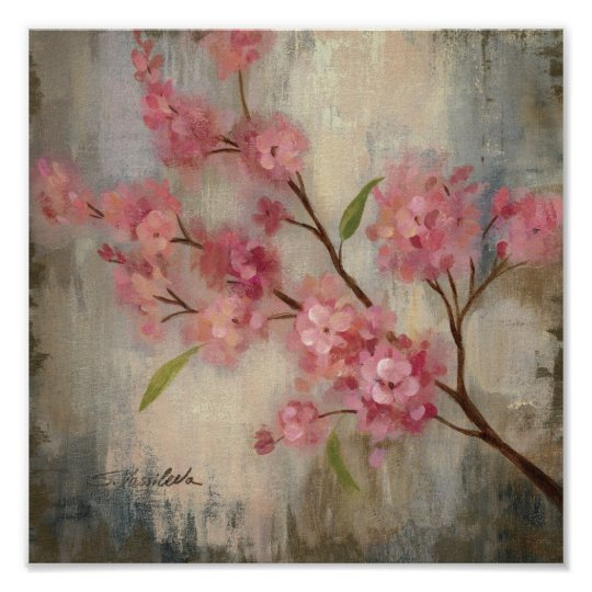 Cherry Blossoms and Branch Poster