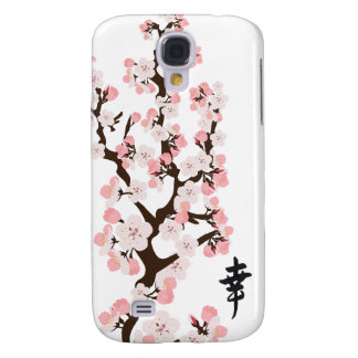 Cherry Blossoms and Kanji 3G/3GS  Galaxy S4 Case