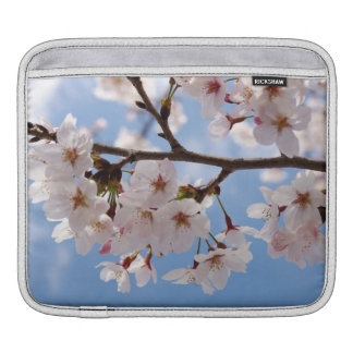 Cherry blossoms and light-blue sky iPad sleeves
