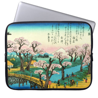 Cherry Blossoms and Mount Fuji 1838 Computer Sleeve