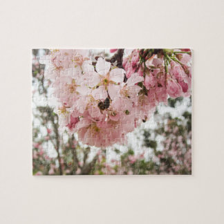 Cherry Blossoms and the Bee - Jigsaw Puzzle