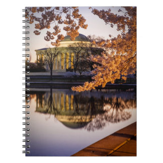 Cherry Blossoms And The Jefferson Memorial 2 Notebooks