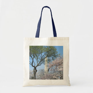 Cherry Blossoms and the Washington Monument in DC Tote Bag