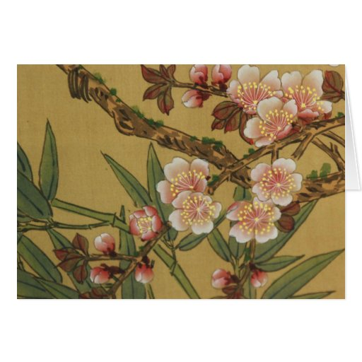 Cherry Blossoms Asian Japanese Art Greeting Card