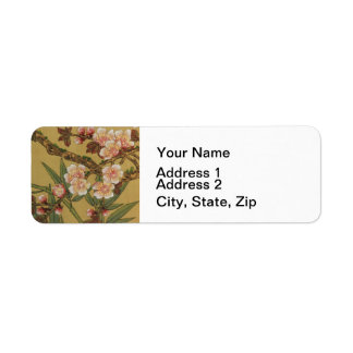 Cherry Blossoms Asian Japanese Art Return Address Label