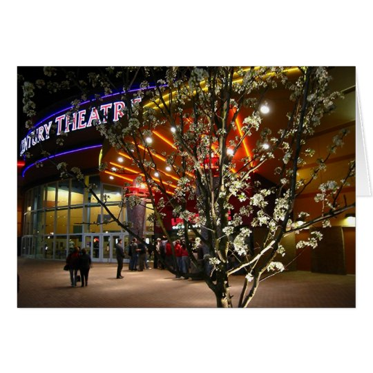 Cherry Blossoms at the Movie Theatre Card