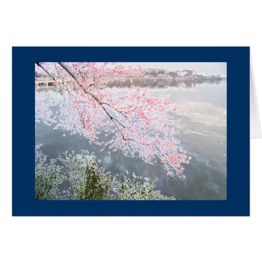 Cherry Blossoms at Tidal Basin, Washington DC-3 Card