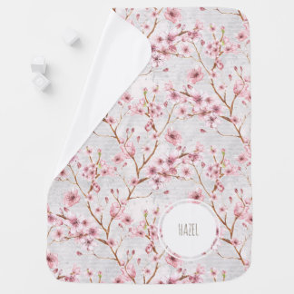 Cherry Blossoms Baby Blanket