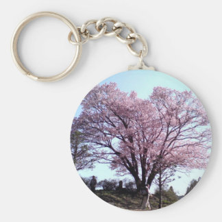 Cherry blossoms basic round button key ring