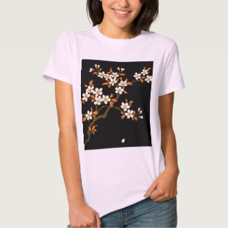 Cherry blossoms bloom and shine at night tshirts