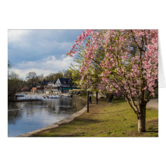Cherry Blossoms, Boathouse Row, Philadelphia Card
