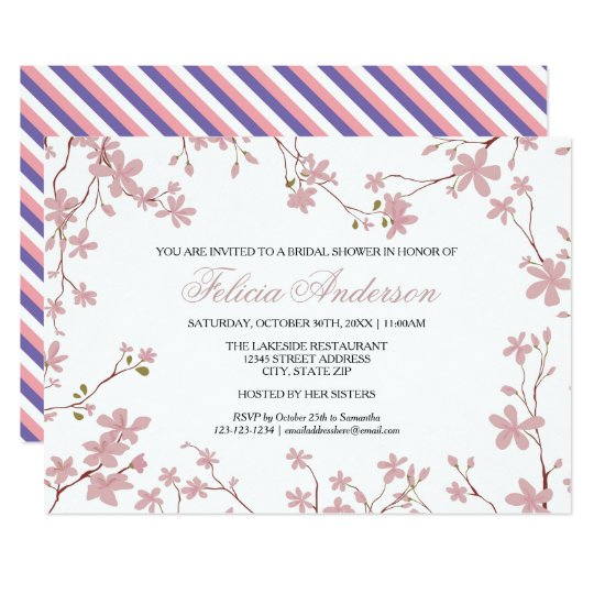 Cherry Blossoms - Bridal Shower Invitation