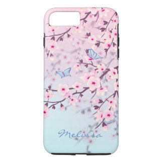Cherry Blossoms Butterflies Pastel iPhone 8 Plus/7 Plus Case