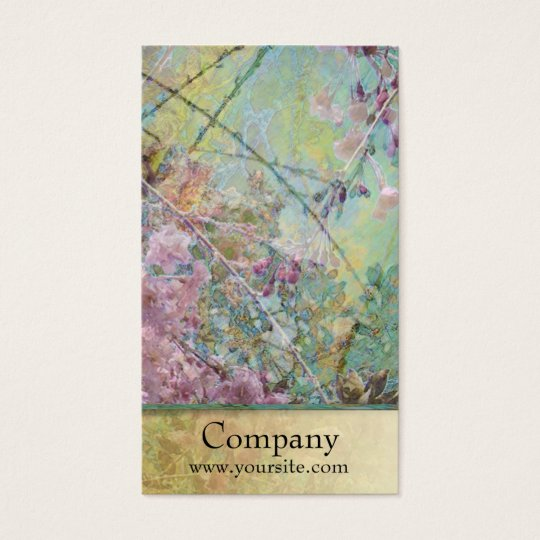 Cherry Blossoms Collage Business Card