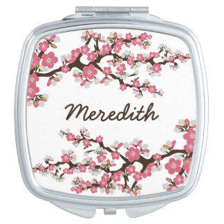 Cherry Blossoms Compact Mirror Bridal Party Gift
