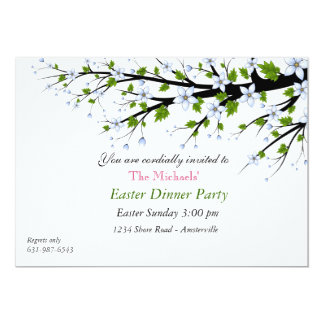 Easter dinner party gifts t shirts art posters other gift cherry blossoms easter dinner party invitation negle Images