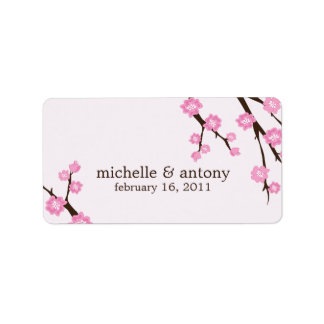 Cherry Blossoms Favor Labels