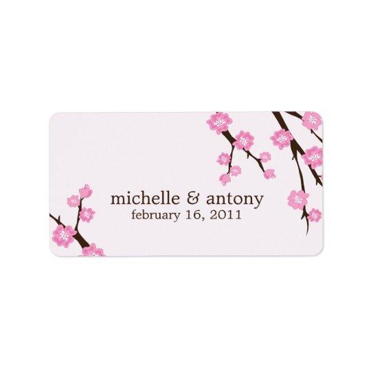 Cherry Blossoms Favour Labels