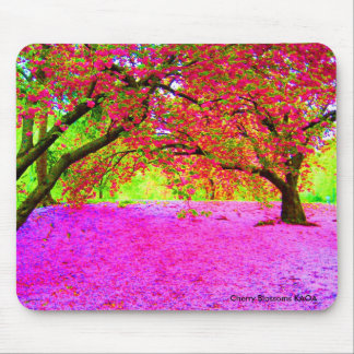 Cherry Blossoms in Central Park Mouse Mat