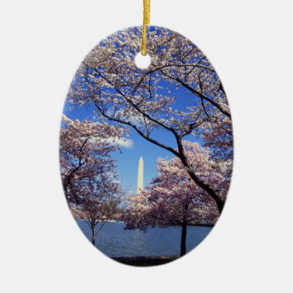 Cherry Blossoms in Washington D.C. Christmas Ornament