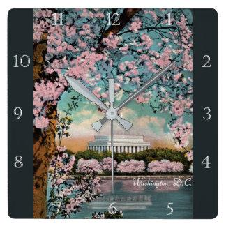 Cherry Blossoms in Washington DC Custom Wall Clocks