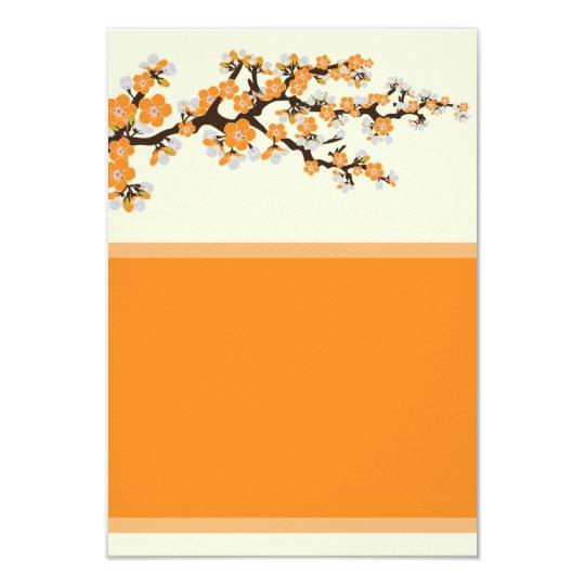 "Cherry Blossoms Info Card (3.5"" x 5"") - orange"